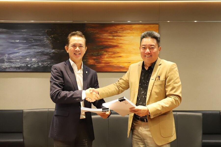 Tổng Giám đốc Tập đoàn Nam Long Chu Chee Kwang và Chủ tịch Keppel Land Vietnam Linson Lim Soon Kooi ký thỏa thuận hợp tác
