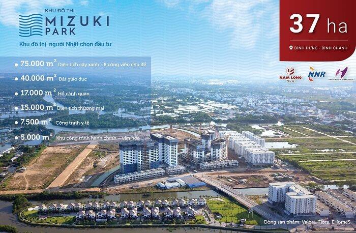 Dự án khu đô thị Mizuki Park của tập đoàn Nam Long