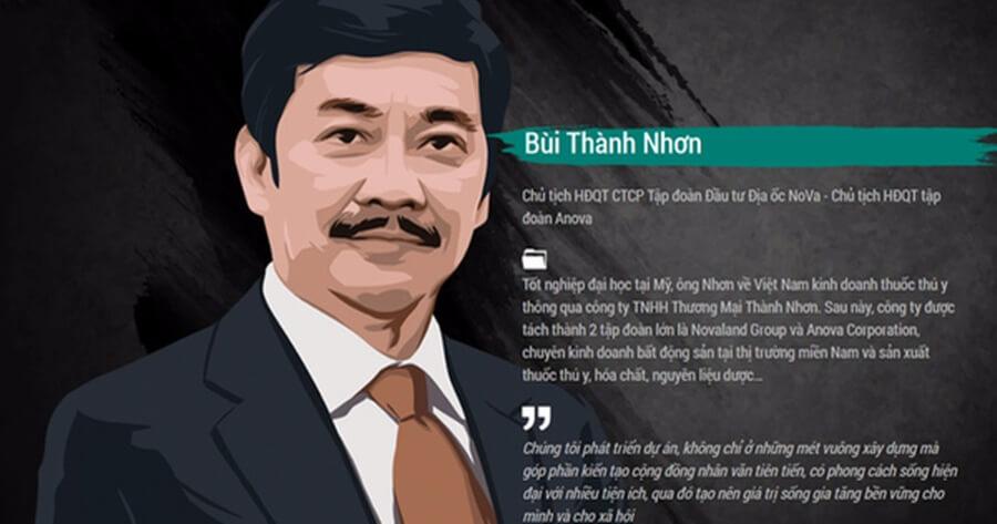 Chủ tịch Bùi Thành Nhơn hiện đang đảm nhiệm nhiều chức vụ ở nhiều công ty khác nhau