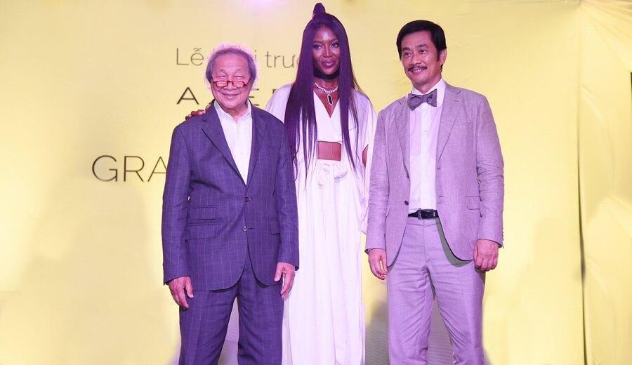 Ông Bùi Thành Nhơn, Ông Adrian Zecha, Siêu mẫu Naomi Campbell trong sự kiện khai trương The Grand Manhattan