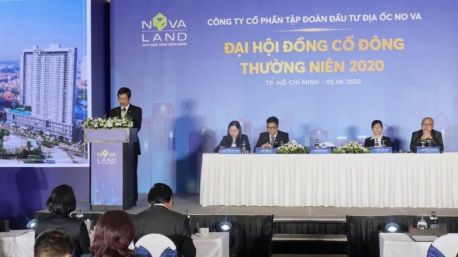 Chủ tịch Novaland Bùi Thành Nhơn tại Đại hội cổ đông thường niên 2020