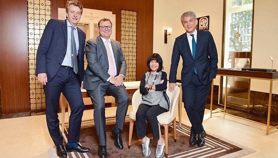 Chủ tịch Patek Philippe SA Thierry Stern cùng ba nhà sáng lập Tập đoàn OpenAsia