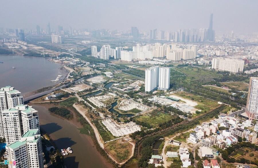 Dự án khu dân cư 30.224 ha thuộc phường Bình Khánh, quận 2, TP HCM có tên thương mại là The Water Bay