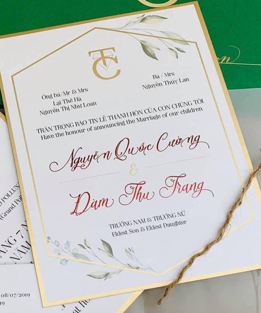Thiệp cưới Cường đô la có tên ông Lại Thế Hà xuất hiện bên phái đại diện nhà trai