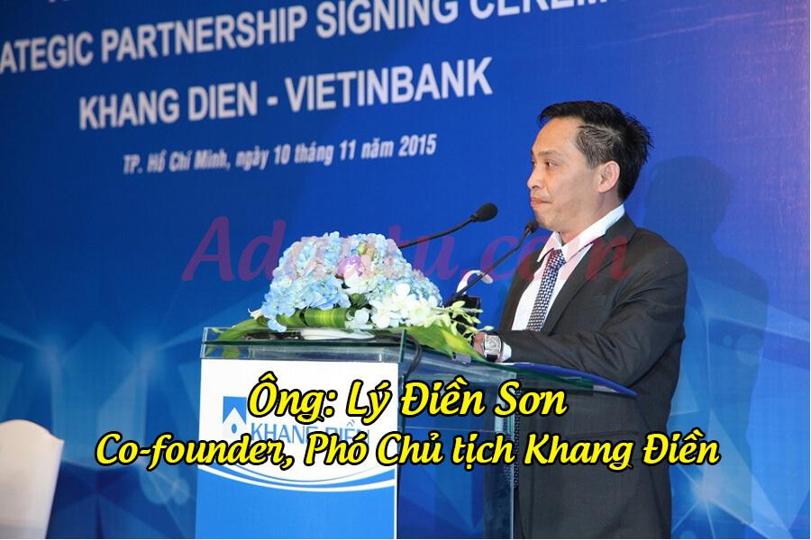 Doanh nhân Lý Điền Sơn hiện là Phó chủ tịch Khang Điền