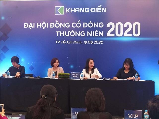 Chủ tịch Mai Trần Thanh Trang tại Đại hội cổ đông thường niên 2020