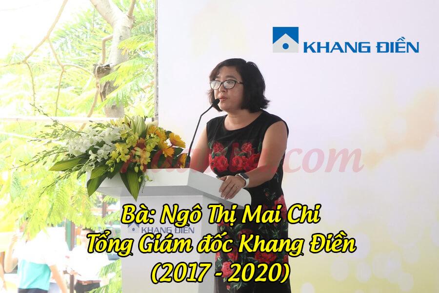 Bà Ngô Thị Mai Chi – Nguyên Tổng Giám đốc Tập đoàn Khang Điền