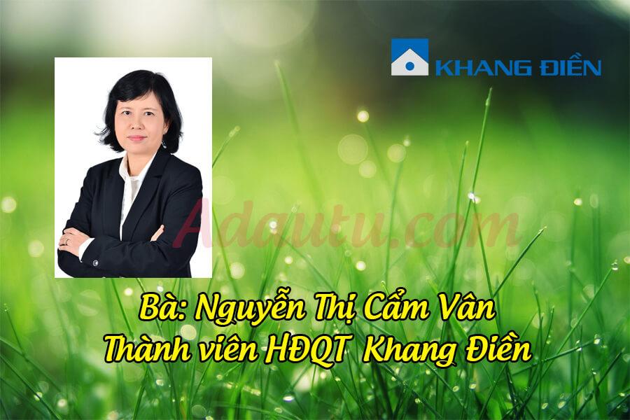 Bà Nguyễn Thị Cẩm Vân – Thành viên HĐQT Tập đoàn Khang Điền