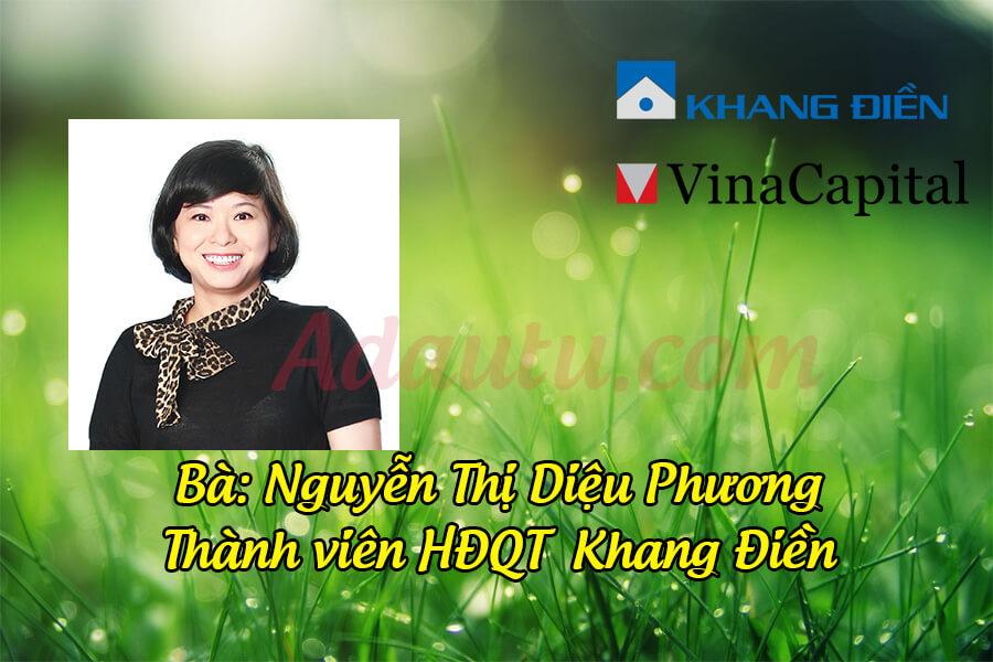 Bà Nguyễn Thị Diệu Phương – Thành viên HĐQT Tập đoàn Khang Điền
