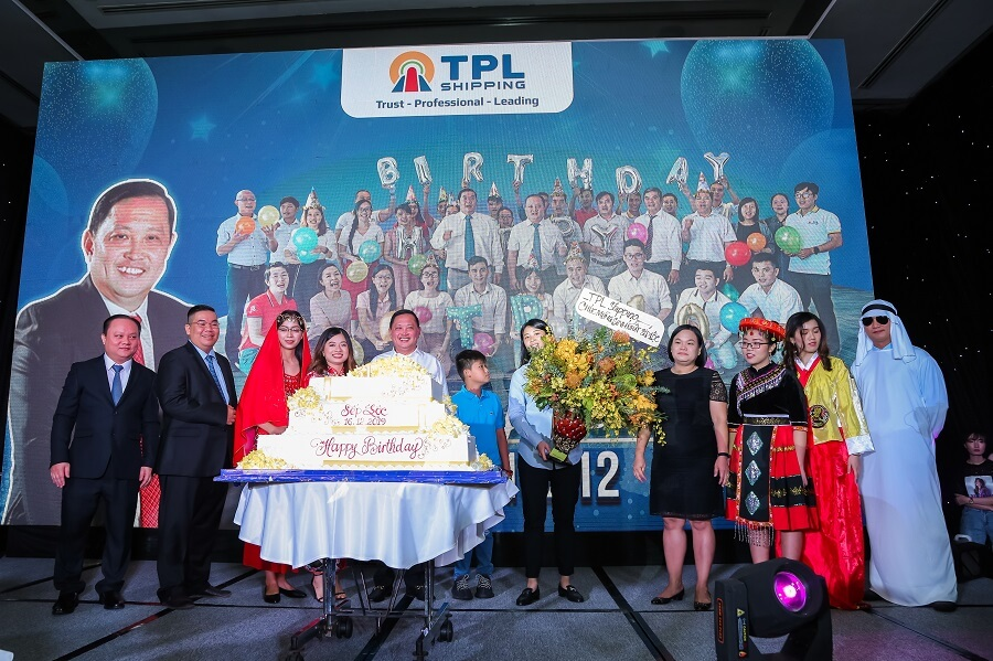 Chủ tịch Nguyễn Văn Đạt tại lễ kỷ niệm 10 năm thành lập TPL Shipping