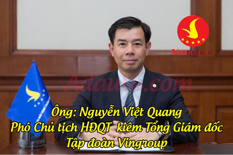 Ông Nguyễn Việt Quang – Tổng Giám đốc Tập đoàn Vingroup