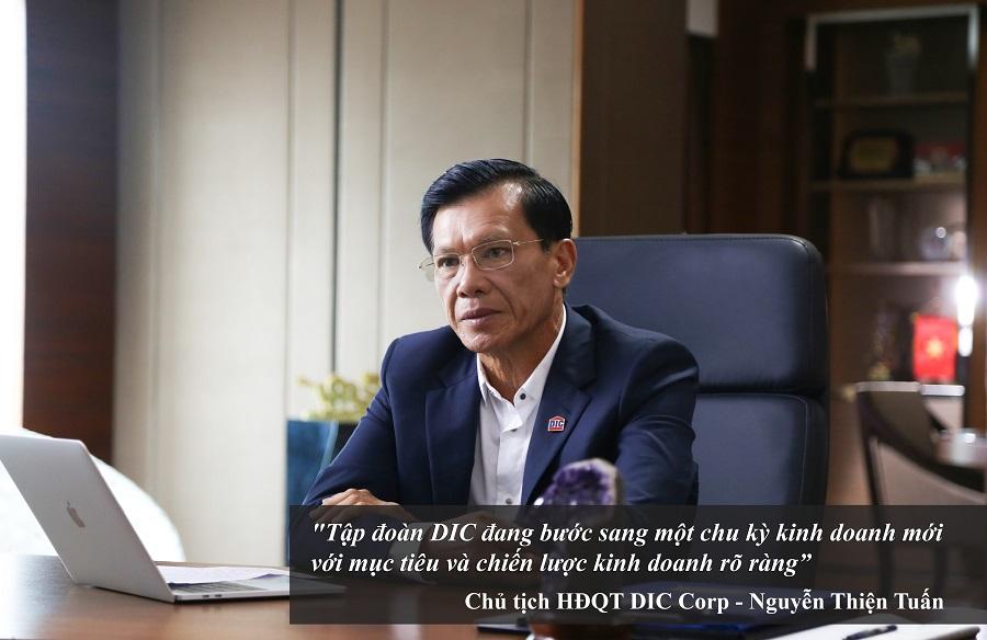 Chủ tịch Nguyễn Thiện Tuấn hiện là cổ đông lớn, gắn bó với DIC Corp từ ngày mới thành lập