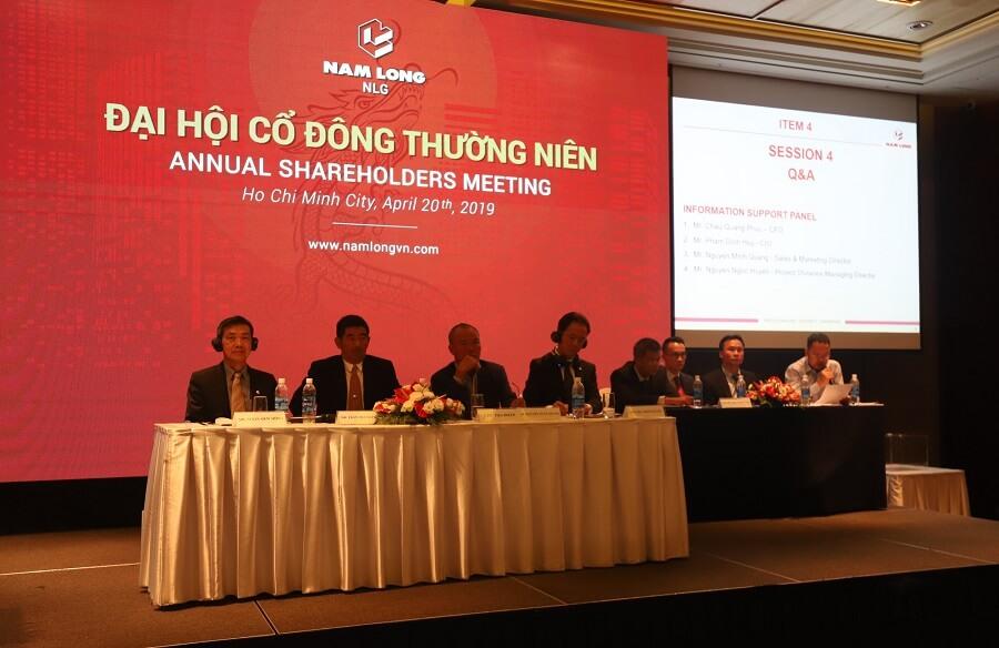 Ban lãnh đạo Nam Long tại Đại hội cổ đông thường niên 2019