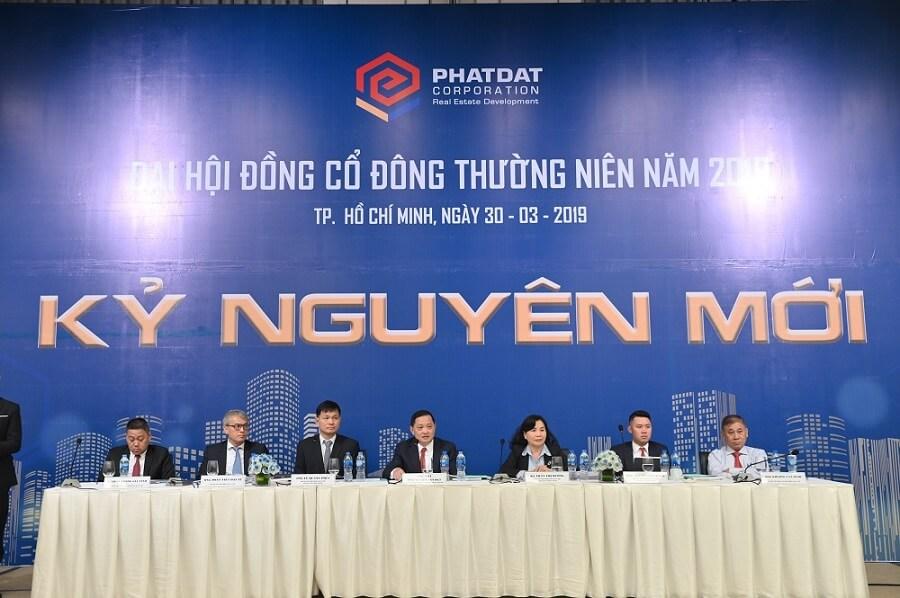 Hội đồng quản trị Phát Đạt tại Đại hội cổ đông thường niên 2019