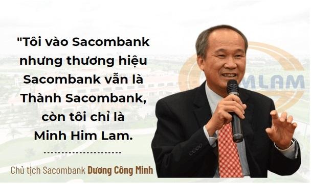 Chủ tịch Sacombank chia sẻ: Anh Đặng Văn Thành vẫn là Thành Sacombank, tôi chỉ là Minh Him Lam