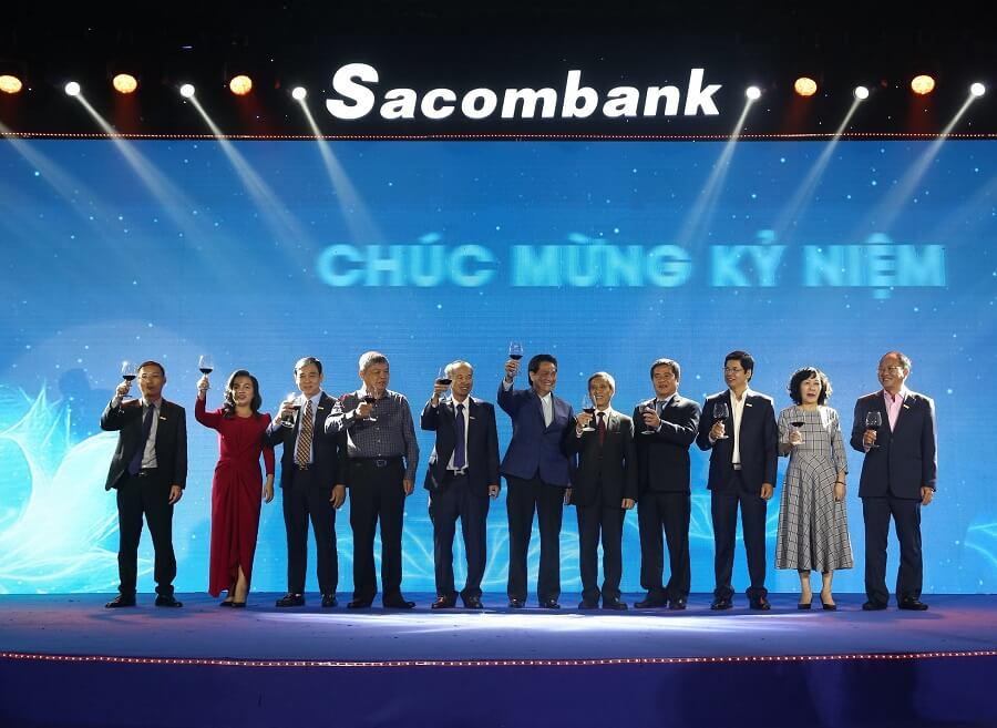 Ông Đặng Văn Thành tại Lễ kỷ niệm 28 năm thành lập Sacombank