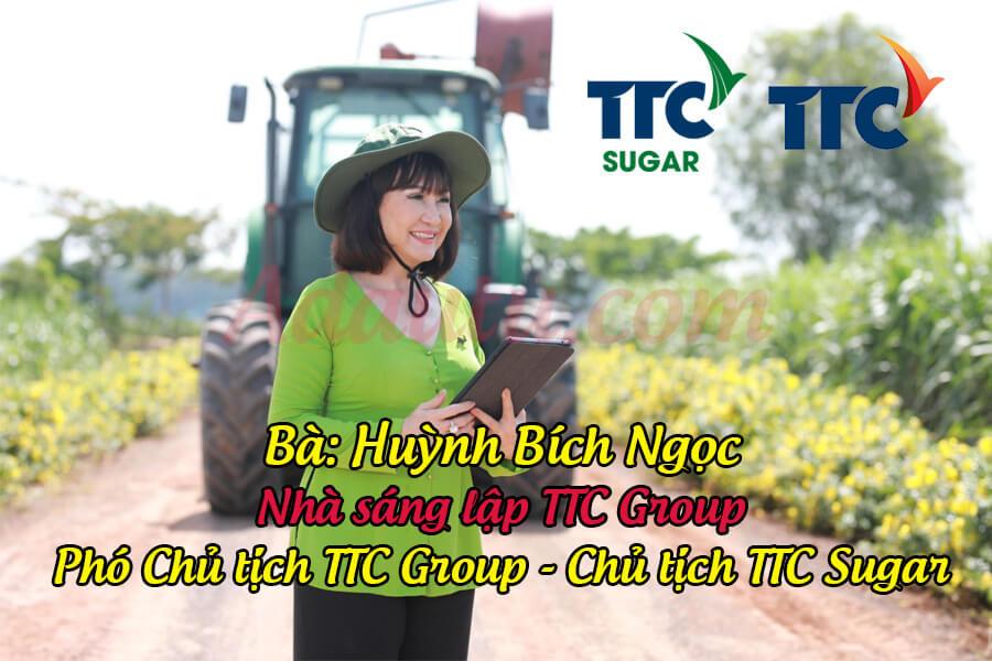 """Chủ tịch TTC Sugar Huỳnh Bích Ngọc được mệnh danh là """"nữ hoàng mía đường"""" Việt Nam"""