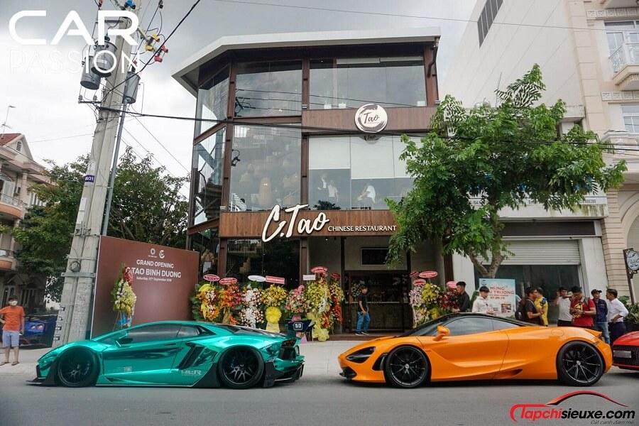 Dàn siêu xe tham dự lễ khai trương nhà hàng C-Tao của Cường đô la - Đàm Thu Trang