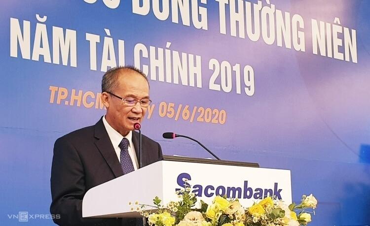Chủ tịch Sacombank Dương Công Minh tại Đại hội cổ đông thường niên 2019