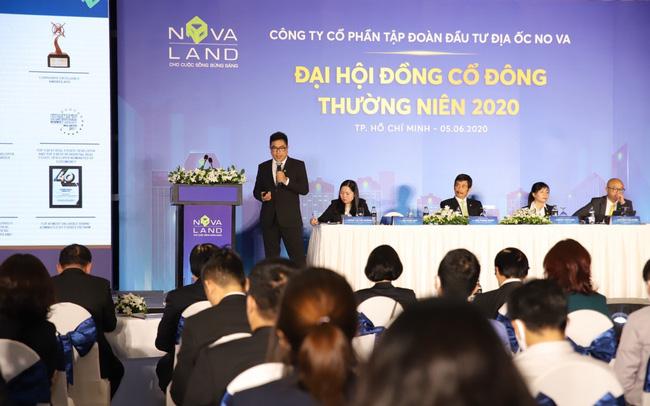 Ban lãnh đạo Novaland tại Đại hội cổ đông thường niên 2020